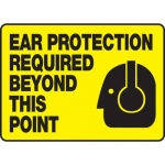 """Accuform MPPE559XF10, 7″ x 10″ PPE Safety Sign """"Ear Protection"""""""