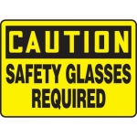 """Accuform MPPE602VS10, 10″ x 14″ Safety Sign """"Safety Glasses Required"""""""