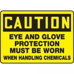 "Accuform MPPE603XP10, 10″ x 14″ OSHA Safety Sign ""Eye And Glove …."""
