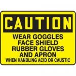 "Accuform MPPE604XF10, 10″ x 14″ OSHA Safety Sign ""Wear Goggles …"""