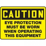 "Accuform MPPE610XF10, 10″ x 14″ OSHA Safety Sign ""Eye Protection …"""