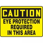 "Accuform MPPE626XF10, 10″ x 14″ OSHA Safety Sign ""Eye Protection …"""