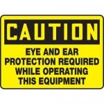 "Accuform MPPE628XF10, 10″ x 14″ OSHA Safety Sign ""Eye And Ear …"""