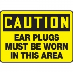 """Accuform MPPE630XF10, 10″ x 14″ OSHA Safety Sign """"Ear Plugs Must …"""""""