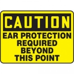 """Accuform MPPE631XF10, 7″ x 10″ OSHA Safety Sign """"Ear Protection …"""""""