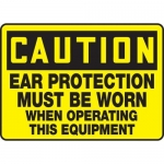 """Accuform MPPE636XF10, 10″ x 14″ OSHA Safety Sign """"Ear Protection …"""""""