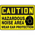 "Accuform MPPE637XF10, 10″ x 14″ Safety Sign ""Hazardous Noise Area …"""