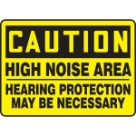 "Accuform MPPE645XF10, 10″ x 14″ OSHA Safety Sign ""High Noise Area"""