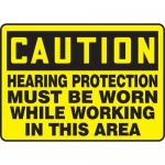 "Accuform MPPE646XF10, 10″ x 14″ Safety Sign ""Hearing Protection …"""