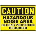 "Accuform MPPE648XF10, 10″ x 14″ Safety Sign ""Hazardous Noise Area …"""