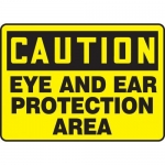 """Accuform MPPE649XF10, 10″ x 14″ Safety Sign """"Eye and Ear …"""""""