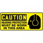 "Accuform MPPE654XF10, 7″ x 17″ Safety Sign ""Hearing Protection …"""