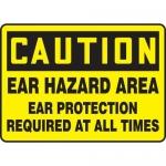 "Accuform MPPE656XF10, 10″ x 14″ OSHA Safety Sign ""Ear Hazard Area …"""