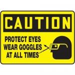 "Accuform MPPE658XT10, 10″ x 14″ OSHA Safety Sign ""Protect Eyes …"""