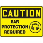 """Accuform MPPE664XF10, 10″ x 14″ Safety Sign """"Ear Protection Required"""""""