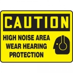 "Accuform MPPE673XF10, 7″ x 10″ OSHA Safety Sign ""High Noise Area …"""
