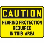 "Accuform MPPE676XF10, 10″ x 14″ Safety Sign ""Hearing Protection …"""