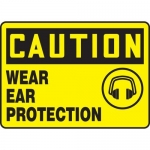 """Accuform MPPE678XF10, 10″ x 14″ OSHA Safety Sign """"Wear Ear Protection"""""""