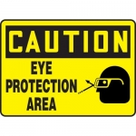 "Accuform MPPE702XF10, 10″ x 14″ OSHA Safety Sign ""Eye Protection Area"""