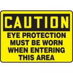 "Accuform MPPE703XF10, 10″ x 14″ OSHA Safety Sign ""Eye Protection …"""