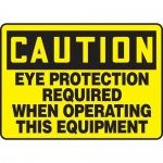 "Accuform MPPE704XF10, 10″ x 14″ OSHA Safety Sign ""Eye Protection …"""