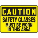 "Accuform MPPE706XV10, 10″ x 14″ OSHA Safety Sign ""Safety Glasses …"""