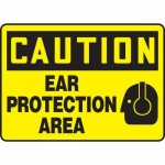 """Accuform MPPE708XF10, 10″ x 14″ OSHA Safety Sign """"Ear Protection Area"""""""