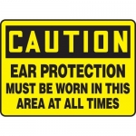 """Accuform MPPE709XF10, 10″ x 14″ Safety Sign """"Ear Protection Must …"""""""