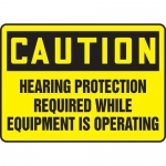"Accuform MPPE712XF10, 10″ x 14″ Safety Sign ""Hearing Protection …"""