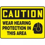 "Accuform MPPE714XF10, 10″ x 14″ OSHA Safety Sign ""Wear Hearing …"""
