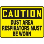 "Accuform MPPE716XF10, 10″ x 14″ OSHA Safety Sign ""Dust Area …"""