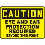 "Accuform MPPE721XF10, 10″ x 14″ OSHA Safety Sign ""Eye and Ear …"""