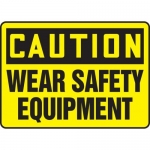 "Accuform MPPE726XF10, 10″ x 14″ OSHA Safety Sign ""Wear Safety …"""