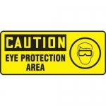 "Accuform MPPE729XF10, 7″ x 17″ OSHA Safety Sign ""Eye Protection Area"""
