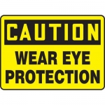 "Accuform MPPE736XF10, 10″ x 14″ OSHA Safety Sign ""Wear Eye Protection"""