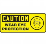 "Accuform MPPE737XF10, 7″ x 17″ OSHA Safety Sign ""Wear Eye Protection"""