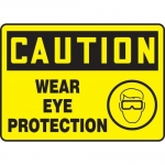 "Accuform MPPE738XF10, 10″ x 14″ OSHA Safety Sign ""Wear Eye Protection"""