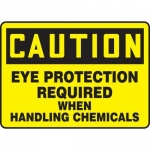 "Accuform MPPE739XF10, 10″ x 14″ OSHA Safety Sign ""Eye Protection …"""