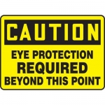 "Accuform MPPE742XF10, 10″ x 14″ OSHA Safety Sign ""Eye Protection …"""
