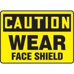 "Accuform MPPE744XT10, 10″ x 14″ OSHA Safety Sign ""Wear Face Shield"""