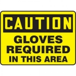 """Accuform MPPE750XP10, 10″ x 14″ OSHA Safety Sign """"Gloves Required …"""""""