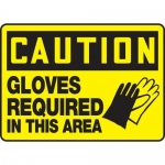 """Accuform MPPE756XP10, 10″ x 14″ OSHA Safety Sign """"Gloves Required …"""""""