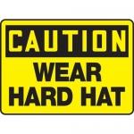 "Accuform MPPE759XP10, 10″ x 14″ OSHA Safety Sign ""Wear Hard Hat"""