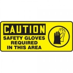 "Accuform MPPE762XP10, 7″ x 17″ OSHA Safety Sign ""Safety Gloves …"""