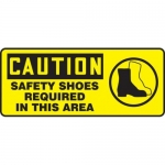"""Accuform MPPE764XL10, 7″ x 17″ OSHA Safety Sign """"Safety Shoes …"""""""