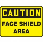 """Accuform MPPE768XL10, 7″ x 10″ OSHA Safety Sign """"Face Shield Area"""""""