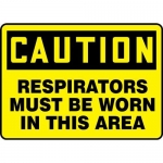 """Accuform MPPE773XL10, 7″ x 10″ PPE Safety Sign """"Respirators Must …"""""""