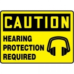 """Accuform MPPE776XL10, 7″ x 10″ Safety Sign """"Hearing Protection …"""""""