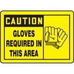 """Accuform MPPE783XP10, 10″ x 14″ OSHA Safety Sign """"Gloves Required …"""""""