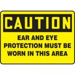 "Accuform MPPE785XF10, 10″ x 14″ OSHA Safety Sign ""Ear And Eye …"""